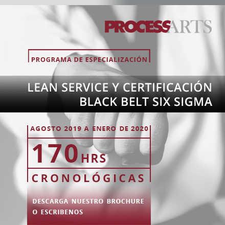 Programa de Especialización Lean Service y Certificación Black Belt Six Sigma