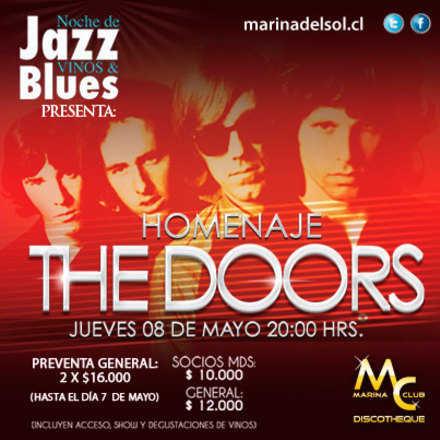 Noche de Jazz Vinos & Blues Homenaje a The Doors