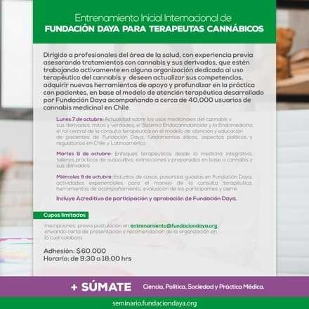 Entrenamiento Inicial Internacional para Terapeutas Cannábicos