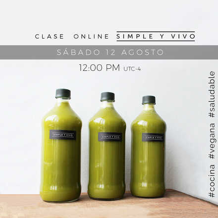 ONLINE: Cocina Vegana Saludable (pagos Chile)