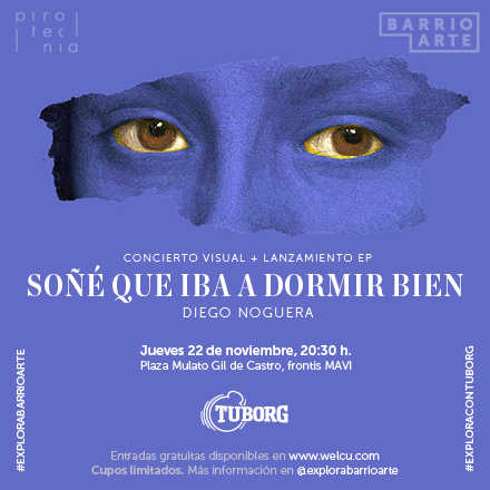 """""""Soñé que iba a dormir bien"""". Concierto visual + Lanzamiento EP Diego Noguera"""