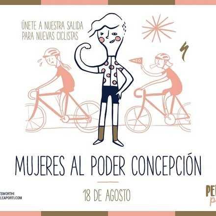 Mujeres al poder Concepción, salida para nuevas ciclistas.