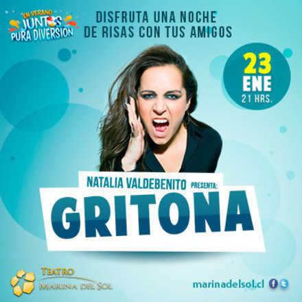 Teatro Gritona con Natalia Valdebenito