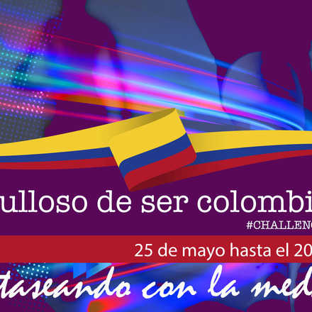 Orgullosamente Colombiano fantaseando con la medalla