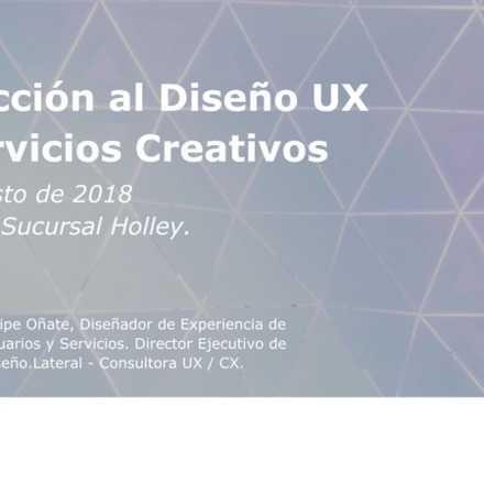 Taller: Introducción al Diseño UX para Servicios Creativos
