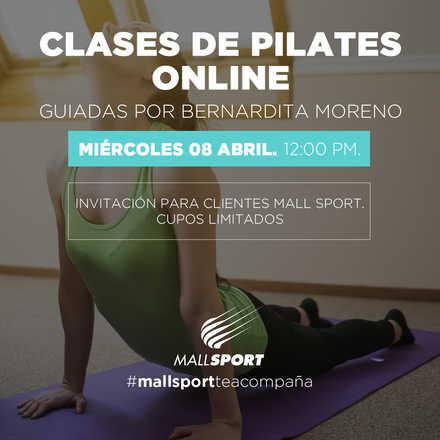 Clase Pilates Online para clientes Mall Sport - 08 de abril