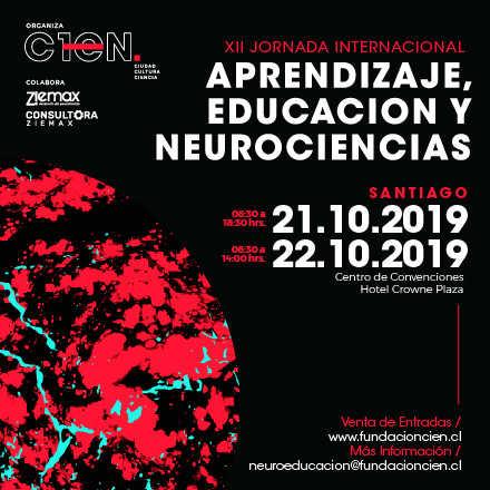 XII JORNADA INTERNACIONAL APRENDIZAJE, EDUCACIÓN Y NEUROCIENCIAS (SANTIAGO)