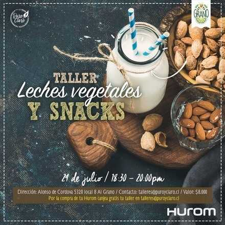 Taller Hurom - Leches vegetales y Snacks