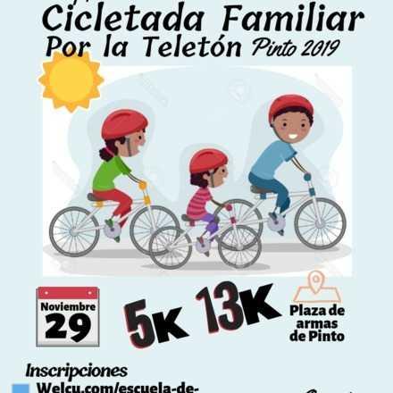 Primera Cicletada Familiar por la Teletón Pinto 2019
