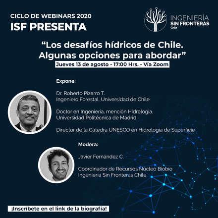 Los desafíos hídricos de Chile. Algunas opciones para abordar