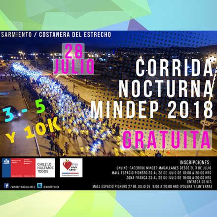 Corrida Nocturna Mindep 2018