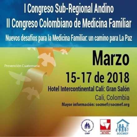 I Congreso Sub-Regional Andino - II Congreso Colombiano de Medicina Familiar