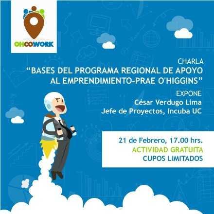 Bases del Programa Regional de Apoyo al Emprendimiento-PRAE O'Higgins