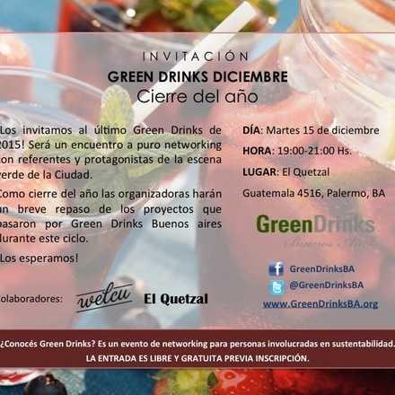 Green Drinks Buenos Aires 15-12 / Cierre del año