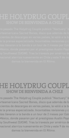 THE HOLYDRUG COUPLE / O9 MAYO / @CLUB EL RITMO