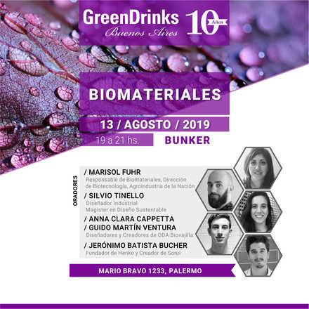 Green Drinks BA 13-08   Biomateriales