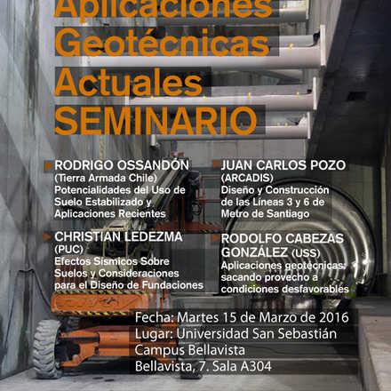 """Seminario """"Aplicaciones geotécnicas actuales"""""""