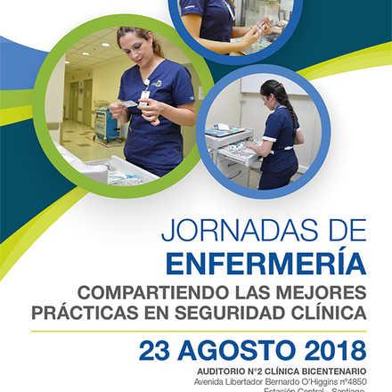 """JORNADAS DE ENFERMERÍA: """"Compartiendo las mejores prácticas en seguridad clínica"""""""