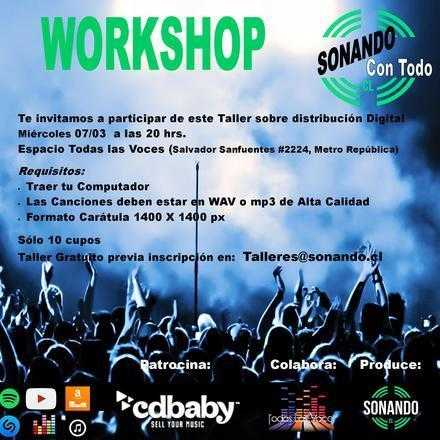 Workshop: Distribución Digital de tu Música