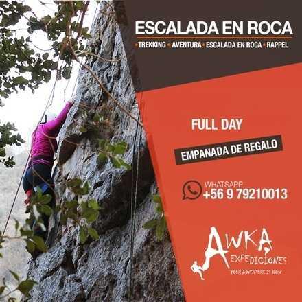 Trekking + Escalada en roca  + Rappel.