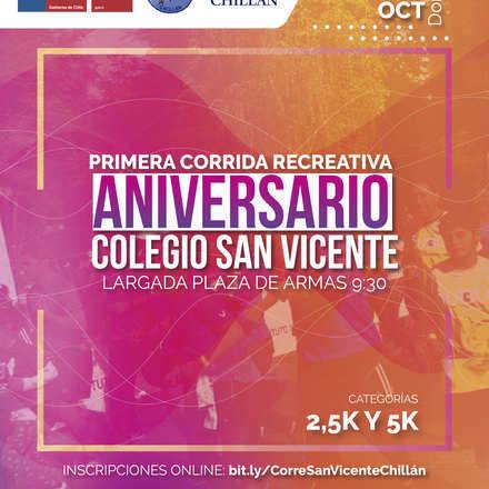 Corrida Recreativa Aniversario Colegio San Vicente