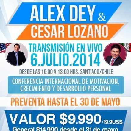 Alex Dey y César Lozano en Vivo