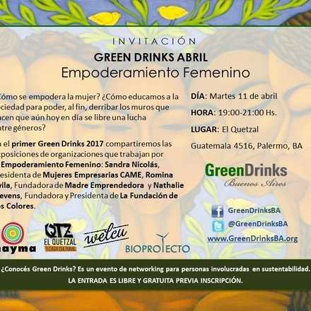 Green Drinks Buenos Aires 11-4 / Empoderamiento Femenino - Oradoras