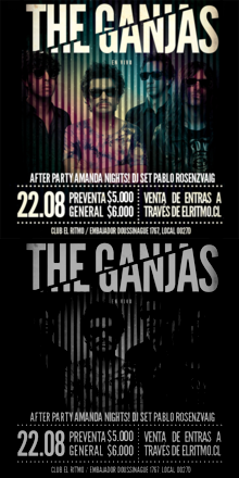 THE GANJAS | JUEVES 22 DE AGOSTO