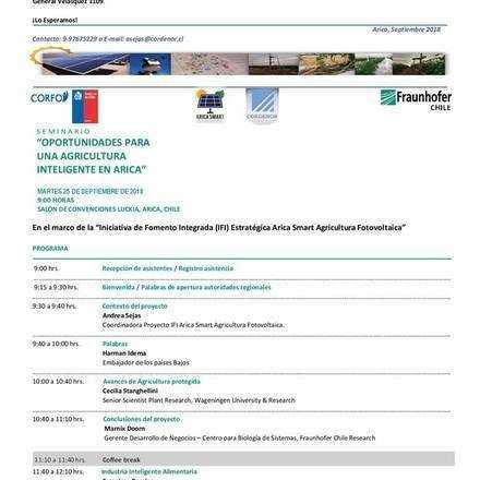 """Seminario """"Oportunidades para una Agricultura Inteligente en Arica"""""""