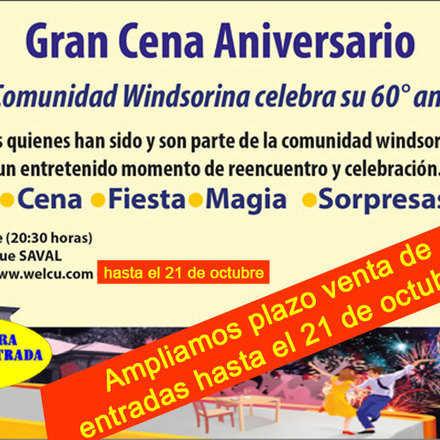 Cena 60 Aniversario Windsor School