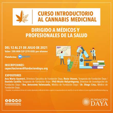 Curso Introductorio al Cannabis Medicinal dirigido a Médicos y Profesionales de la Salud - julio 2021