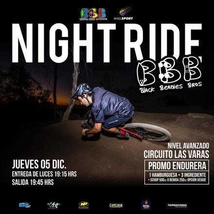 Night Ride con Burgers Beers & Boards