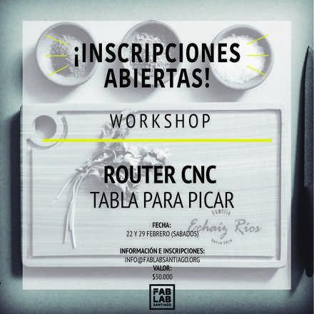 Workshop CNC Arma tu Tabla