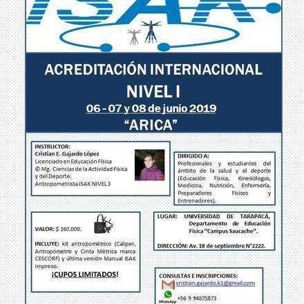 Acreditación Internacional ISAK N1, Arica.