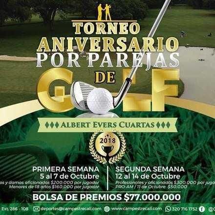 TORNEO ANIVERSARIO DE GOLF- ALBERTO EVERS C. - POR PAREJAS