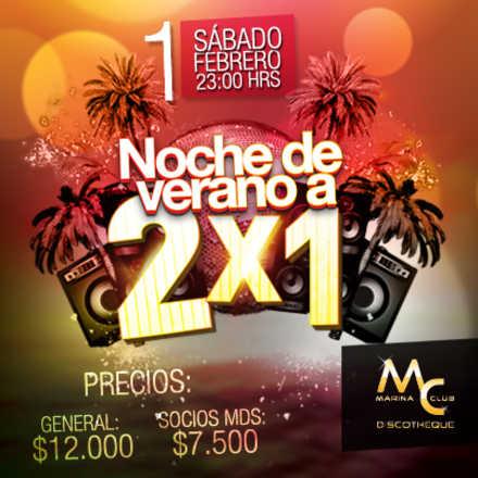 Fiesta Verano 2x1