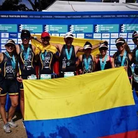 UNIFORMES Campeonato Mundial de Triatlón ITU - Colombia .