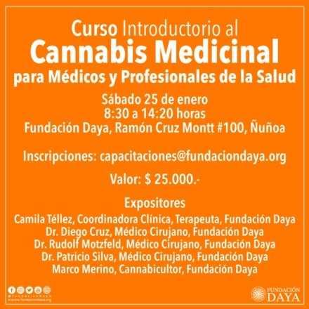 Curso Introductorio al Cannabis Medicinal para Médicos y Profesionales de la Salud, enero 2020