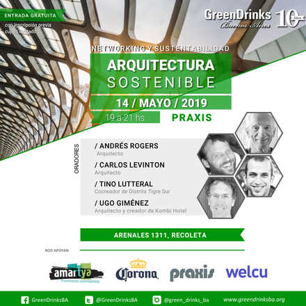 Green Drinks BA 14-05 | Arquitectura Sostenible