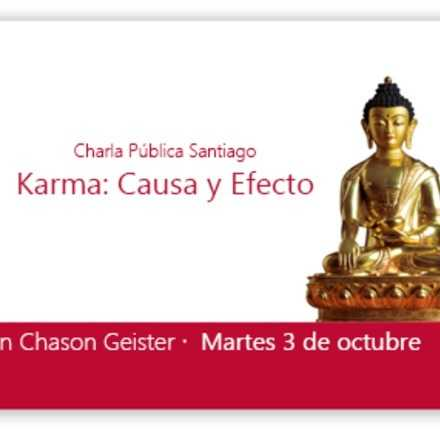 "Charla Pública ""Karma: Causa y Efecto"" con Chason Geister"