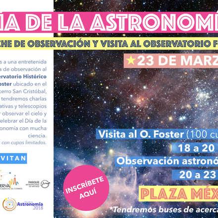 Día de la Astronomía 2018 en ParqueMet