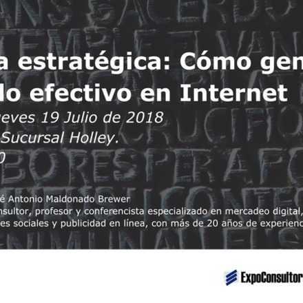 Taller: Escritura estratégica: Cómo generar contenido efectivo en Internet