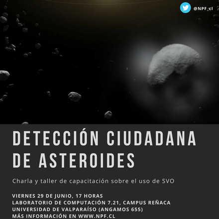 Charla y Taller de detección ciudadana de asteroides