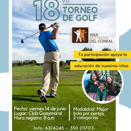 18vo. Torneo de Golf - Fundación Ana Restrepo del Corral