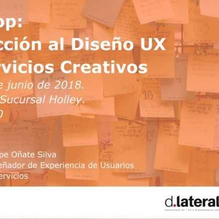 workshop: Introducción al Diseño UX para Servicios Creativos