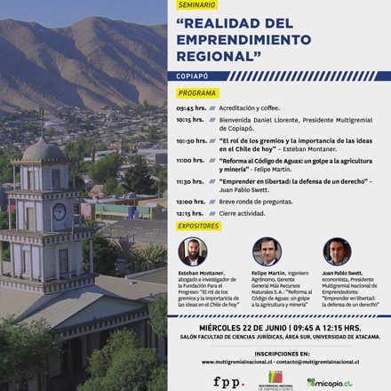 """SEMINARIO COPIAPÓ: """"REALIDAD DEL EMPRENDIMIENTO REGIONAL"""""""