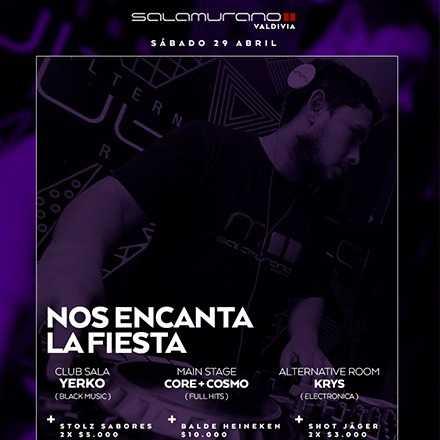 FRANCISCO PETERS > Sábado 29-04 Nos encanta la fiesta