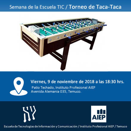 Torneo de Taca Taca - Semana Escuela TIC - AIEP Temuco