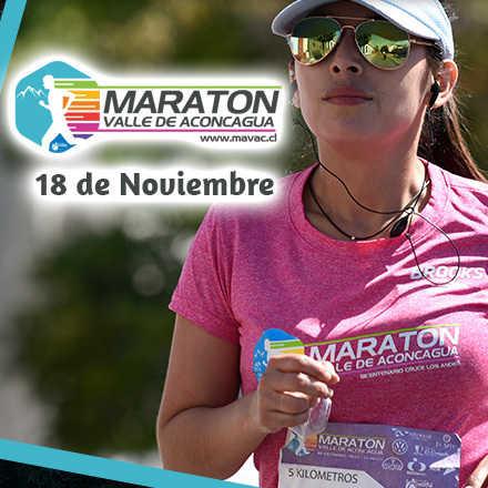 Maratón Valle de Aconcagua - 18 Noviembre 2018