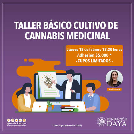 Taller Básico de Cultivo de Cannabis Medicinal 18 febrero 2021